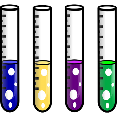 picture of test tubes containing colorful fluids